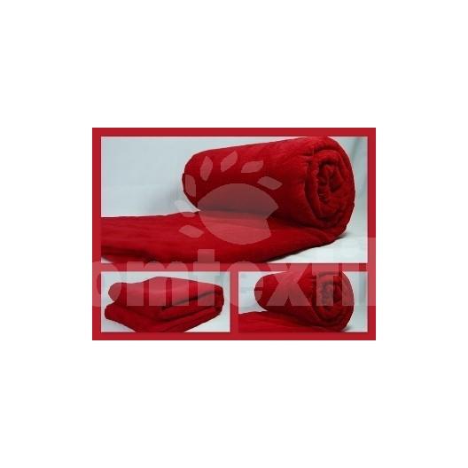 Luxusná deka z mikrovlákna 160 x 210cm červená č.37