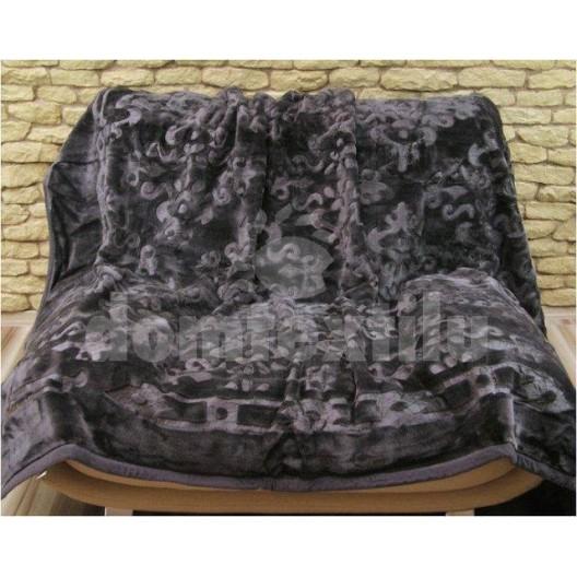 Luxusné deky z akrylu šedej farby 160 x 210cm  č.4