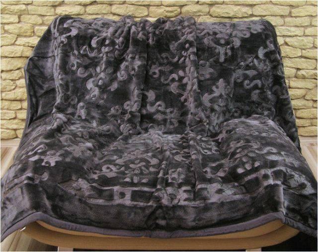 DomTextilu Luxusné deky z akrylu šedej farby 160 x 210cm č.4 1988-3953