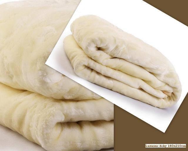 DomTextilu Luxusné deky z akrylu 160 x 210cm biela č.5 1990-3954