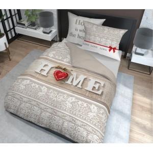 Krásne nadčasové bavlnené posteľné obliečky HOME