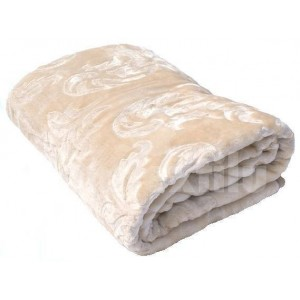 Luxusné deky z akrylu 160 x 210cm béžová č.5