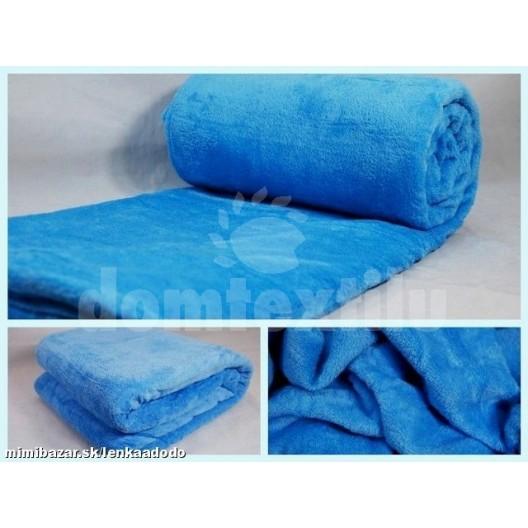 Luxusná deka z mikrovlákna 160 x 210cm nebeská modra č.44
