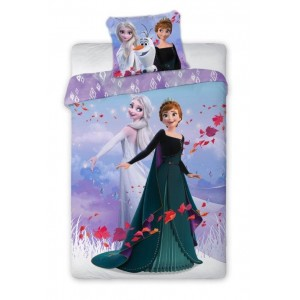 Krásne obojstranné fialové posteľné obliečky FROZEN
