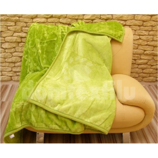Luxusné deky z akrylu 160 x 210cm zelena č.7