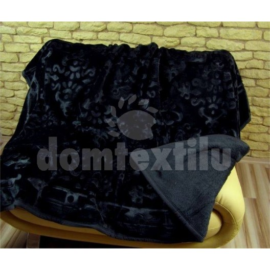 Luxusné deky z akrylu 160 x 210cm čierna č.8