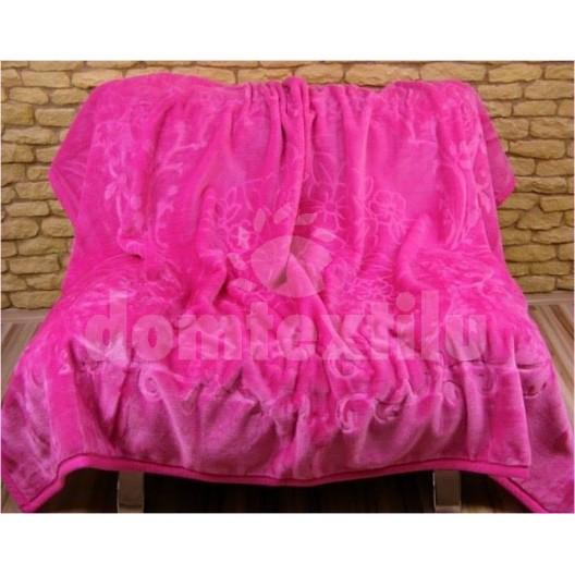 Luxusné deky z akrylu 160 x 210cm ružová č.9