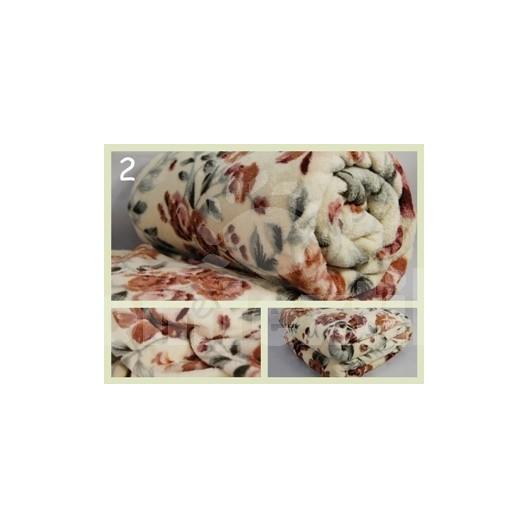 Luxusná deka z mikrovlákna 200 x 220cm kvetinová č.2