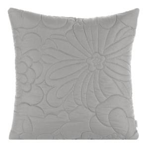 Svetlo sivá dekoračná obliečka na vankúš so vzorom kvetov