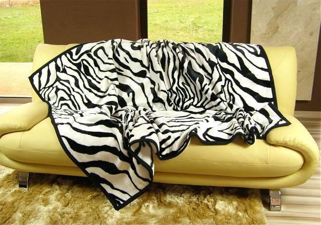 DomTextilu Luxusné deky z akrylu 160 x 210cm zebra č.12 2004-3911