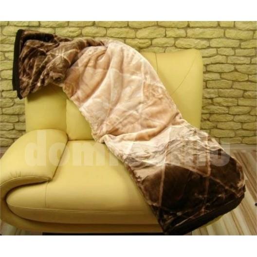 Luxusné deky z akrylu 160 x 210cm telovo-čierna č.13