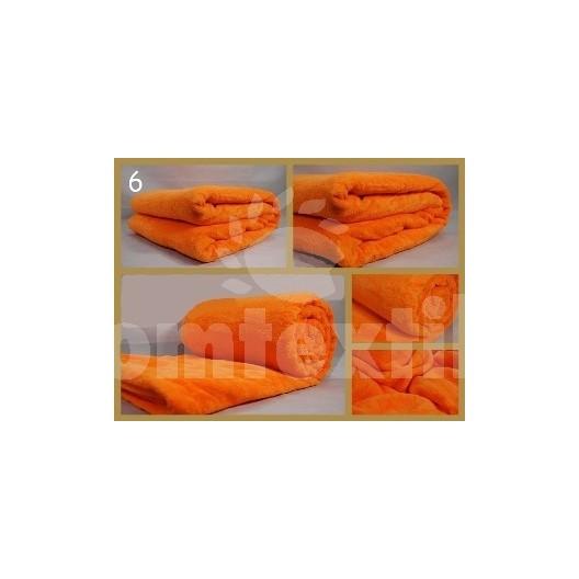 Luxusná deka z mikrovlákna 200 x 220cm pomaranč č. 6