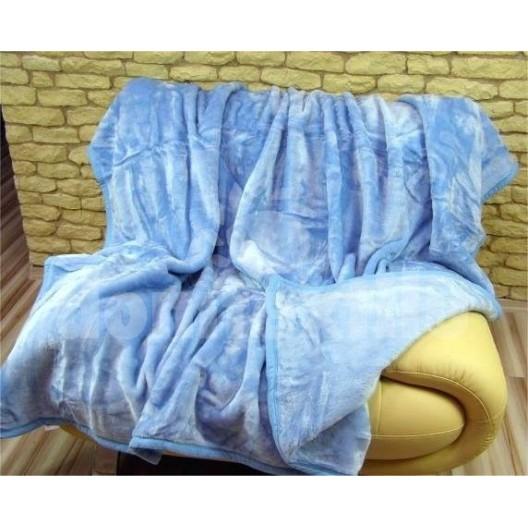 Luxusné deky z akrylu 160 x 210cm svetlo modrá č.14