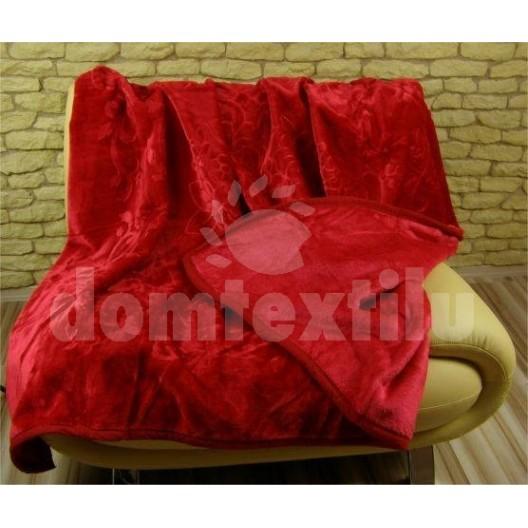 Luxusné deky z akrylu 160 x 210cm červená č.15