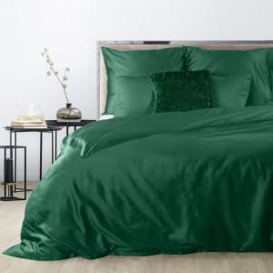 Kvalitné smaragdovo zelené posteľné obliečky bavlnený satén