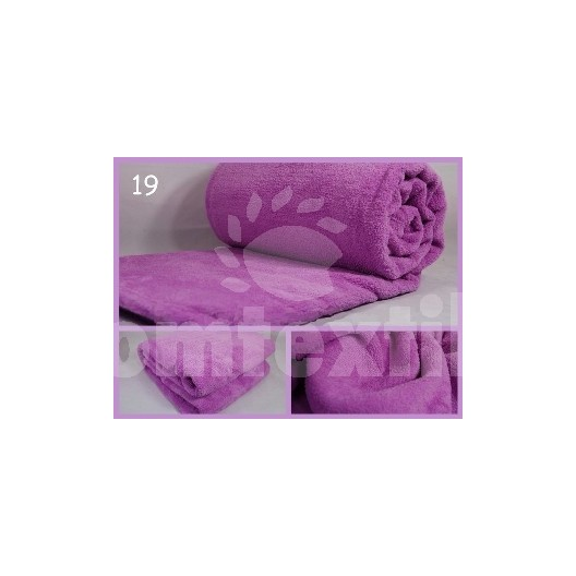 Luxusná deka z mikrovlákna 200 x 220cm svetla fialová č.19