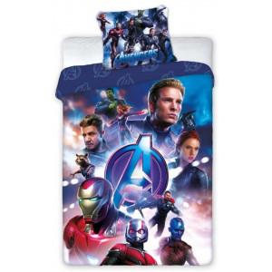 Bavlnené modré posteľné obliečky pre chlapcov AVANGERS