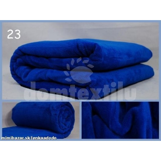 Luxusná deka z mikrovlákna 200 x 220cm modrá č.23
