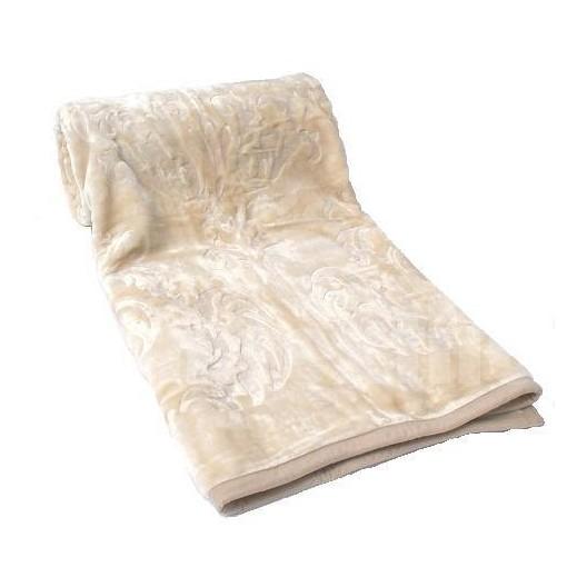 Luxusné deky z akrylu 160 x 210cm béžová č.18