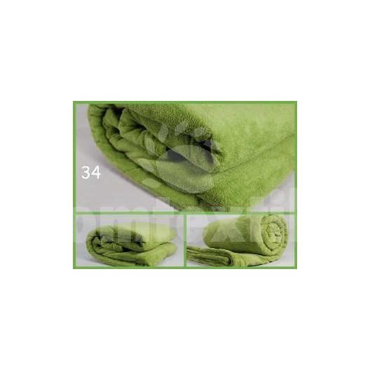 Luxusná deka z mikrovlákna 200 x 220cm zelená č.34