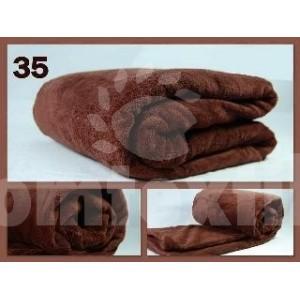 Luxusná deka z mikrovlákna 200 x 220cm hnedá č.35