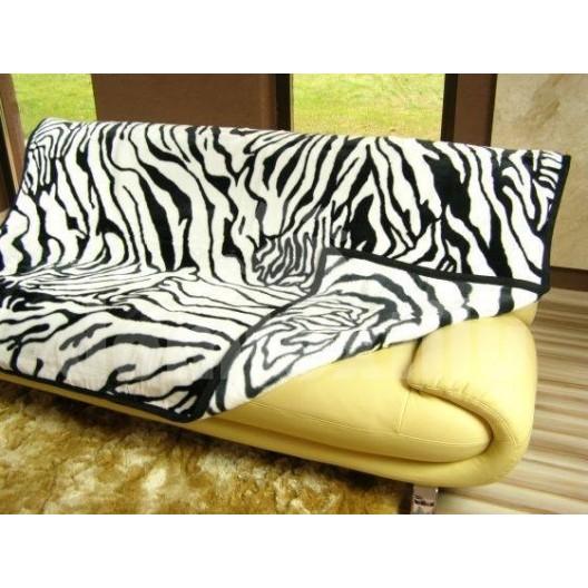 Luxusné deky z akrylu 160 x 210cm zebra č.23