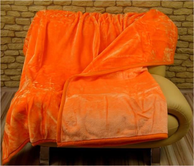 DomTextilu Luxusné deky z akrylu 160 x 210cm oranžová č.23 2028-3937