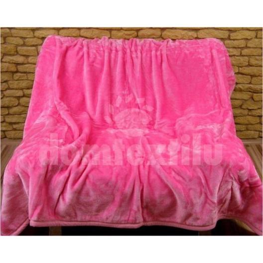 Luxusné deky z akrylu 160 x 210cm ružová č.24