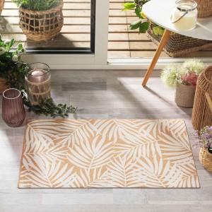 Kvalitný hnedý korkový koberec do predsiene 45 x 75 cm