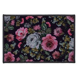 Krásny čierny vintage koberec do predsiene 40 x 60 cm