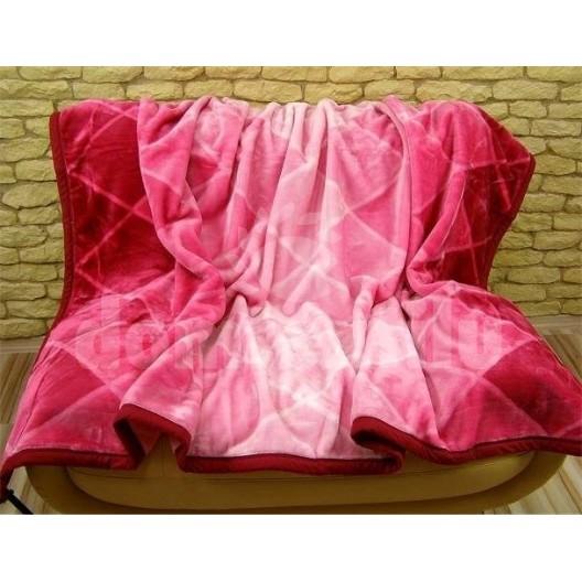 Luxusné deky z akrylu 160 x 210cm bordova č.26