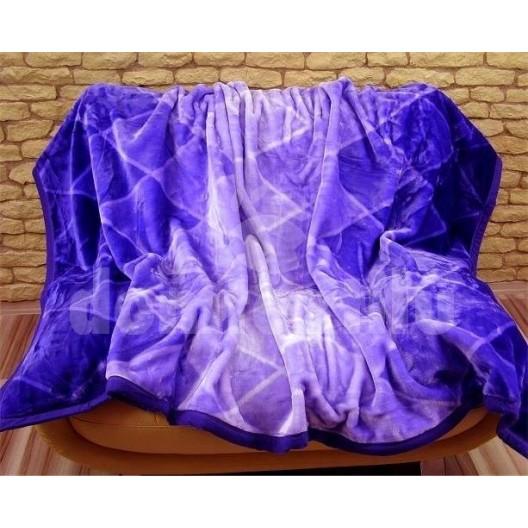 Luxusné deky z akrylu 160 x 210cm modrá č.27