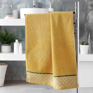 Krásny žltý bavlnený ručník doucer 50 x 90 cm