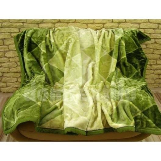 Luxusné deky z akrylu 160 x 210cm zelená č.29
