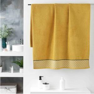 Kvalitná žltá bavlnená osuška DOUCER 90 x 150 cm