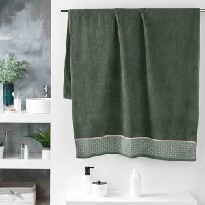 Vysoko kvalitná bavlnená zelená osuška 90 x 150 cm