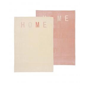Dvojbalenie diek HOME ružovo - béžové