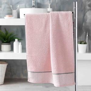 Svetlo ružový jemný bavlnený uterák DOUCER 50 x 90 cm