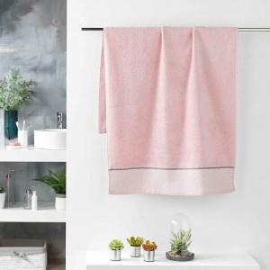 Hebký ružový ručník z kvalitnej bavlny 70 x 130 cm