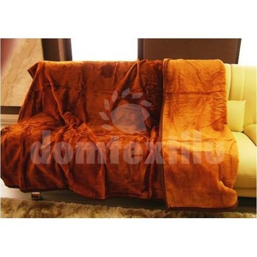 Luxusné deky z akrylu 160 x 210cm hnedo-oranžová č.32