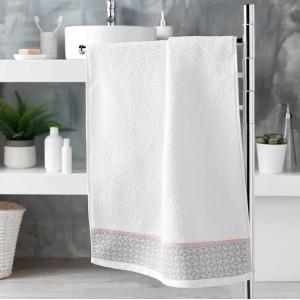 Kvalitný biely uterák z kolekcie DOUCER 50 x 90 cm