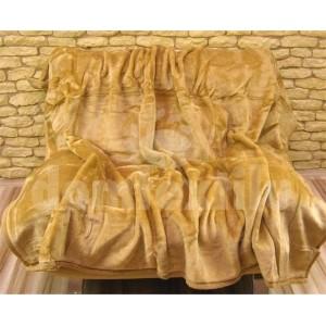 Luxusné deky z akrylu 160 x 210cm svetlo hnedá č.33