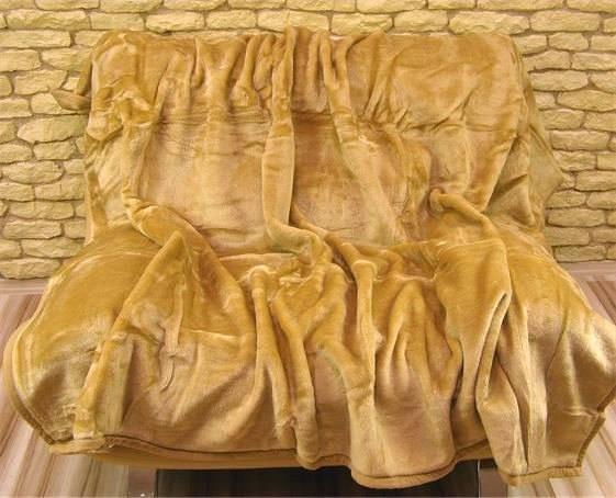 DomTextilu Luxusné deky z akrylu 160 x 210cm svetlo hnedá č.33 2041-3948
