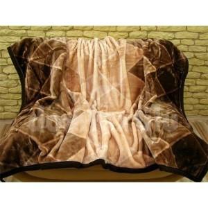 Luxusné deky z akrylu 160 x 210cm hnedá č.34