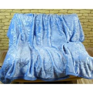 Luxusné deky z akrylu 160 x 210cm svetlo modrá č.37