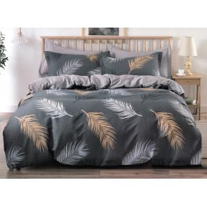 Kvalitné bavlnené obojstranné posteľné obliečky s pierkami