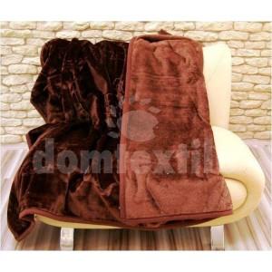 Luxusné deky z akrylu 200 x 240cm tmavo hnedá č.4