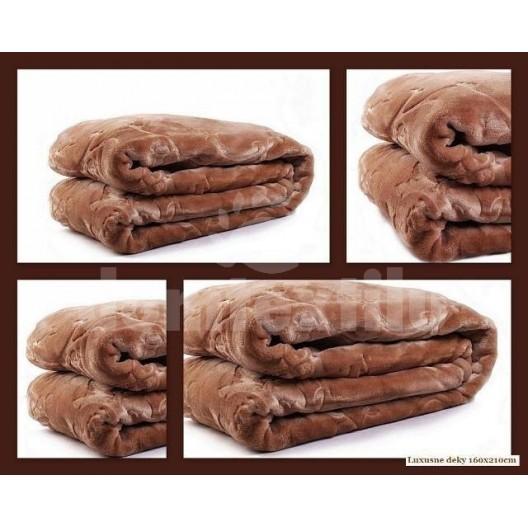 Luxusné deky z akrylu 200 x 240cm hnedá č.8