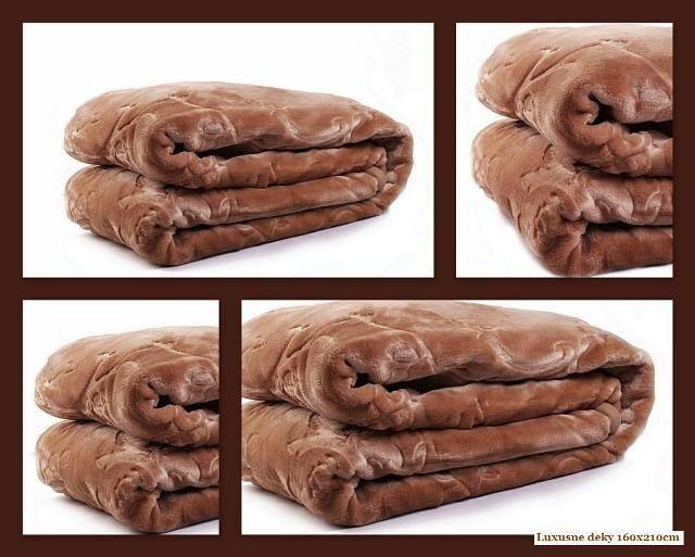 DomTextilu Luxusné deky z akrylu 200 x 240cm hnedá č.8 2053-3967