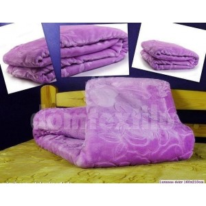 Luxusné deky z akrylu 200 x 240cm fialová č.9